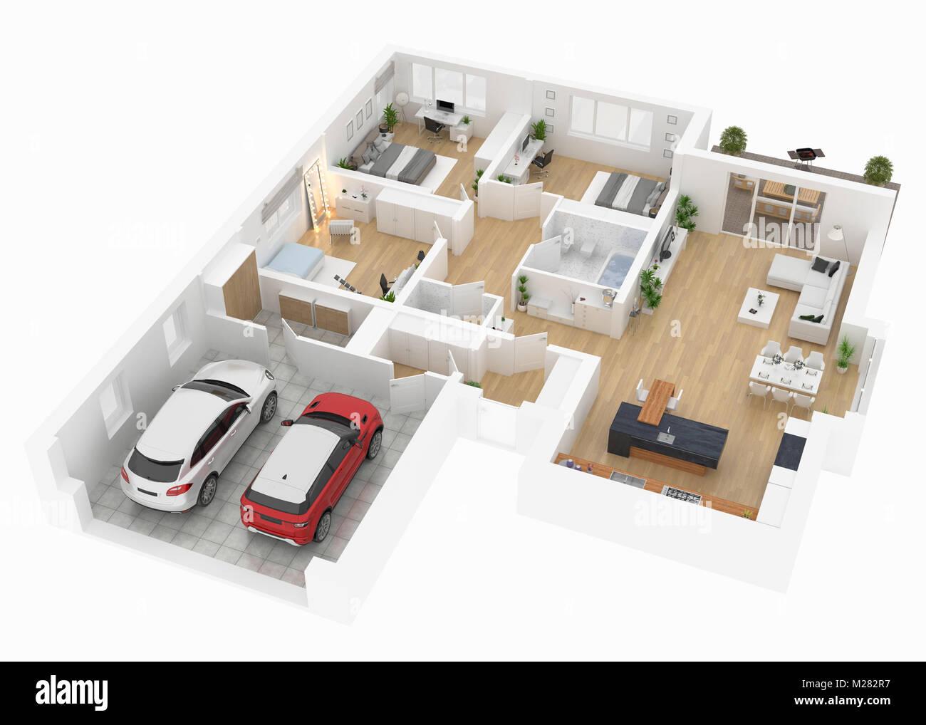 Plan Du Salon Vue D En Haut Interieur Maison Isole Sur Fond Blanc