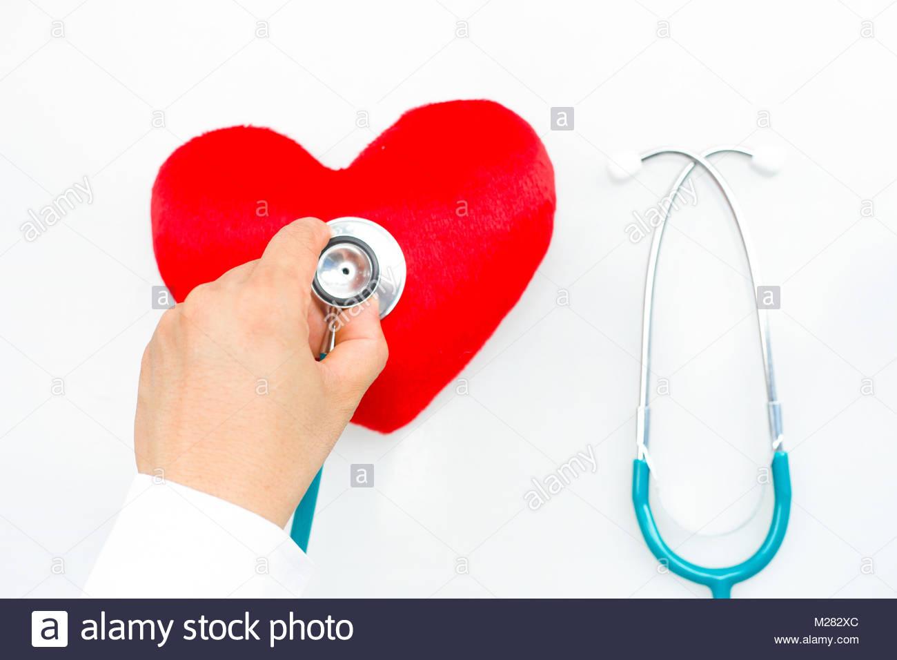 La maladie de coeur,coeur,stéthoscope et diagnostiquer les maladies du cœur,stéthoscope et heart,diagnostiquer Photo Stock