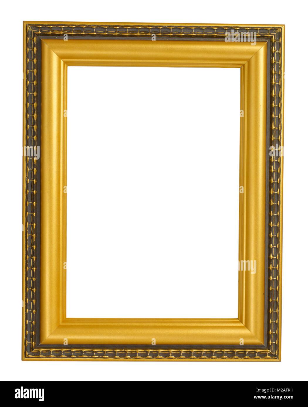 Cadre photo d'or Banque D'Images
