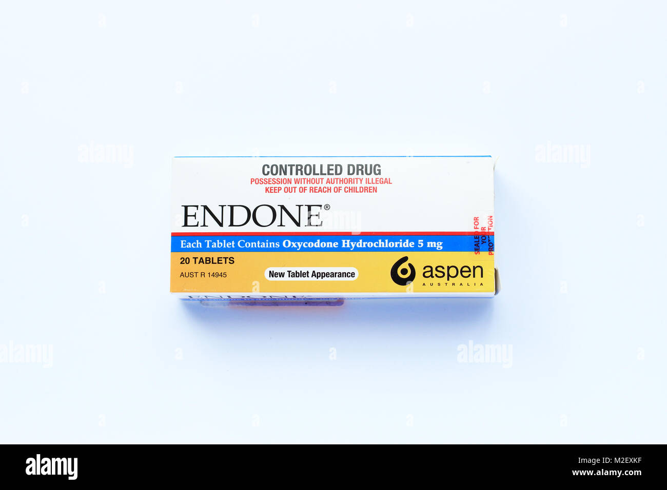 Endone painkiller Prescription - fort isolé contre la douleur Photo Stock