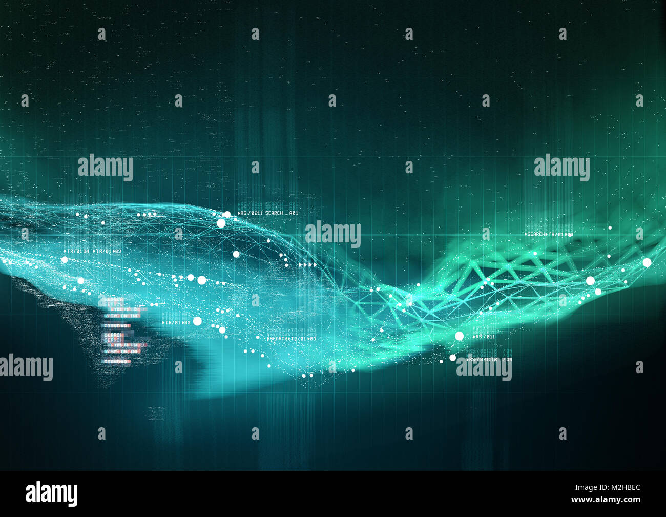 La visualisation de données complexes et de la technologie en travaillant ensemble. 3D Illustration Photo Stock