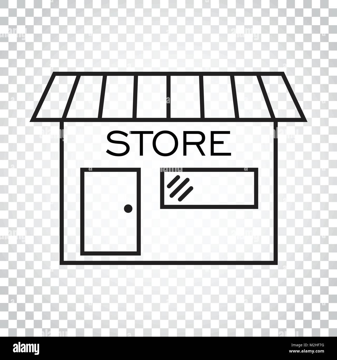 Banque Vectorielle l'icône du magasin dans le style d'illustration vectorielle