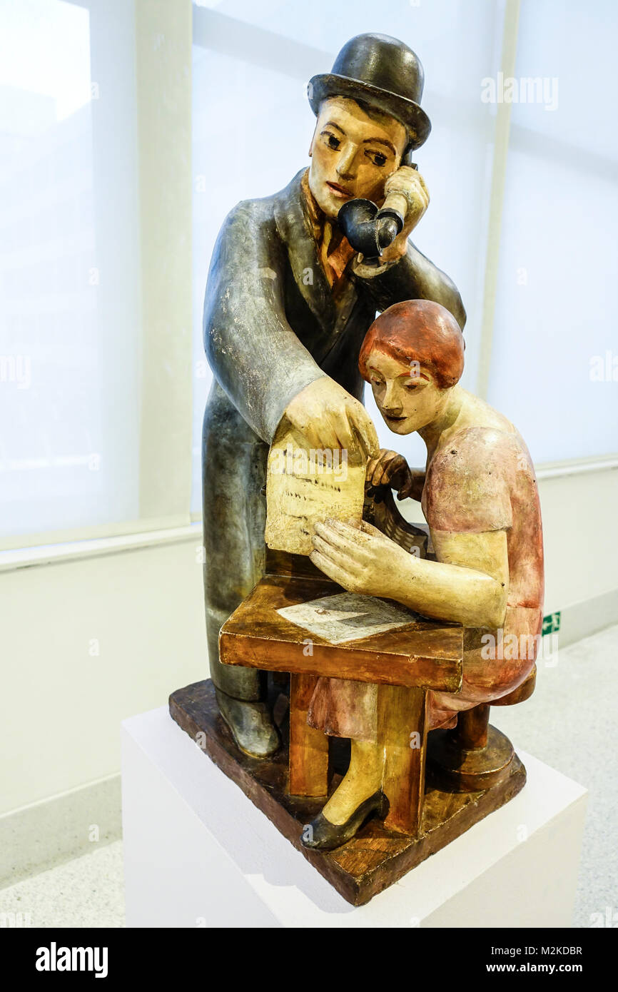Otto Gutfreund, Shop 1921, Veletrzni palac, Galerie nationale, Prague Holesovice, République Tchèque Banque D'Images