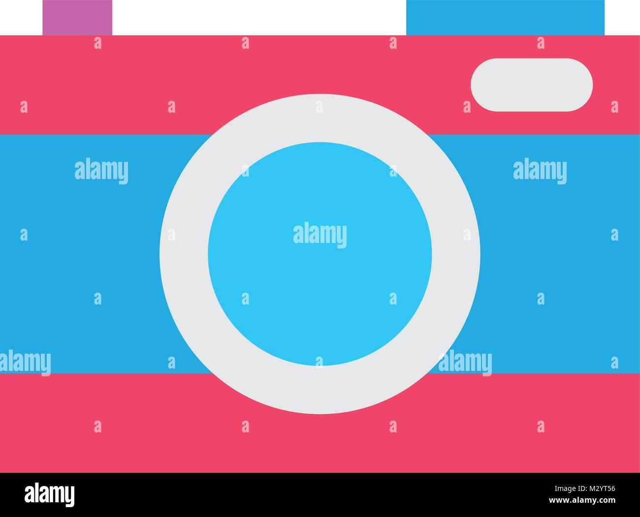 La technologie de l'appareil photo numérique couleur de concentrer l'équipement Illustration de Vecteur