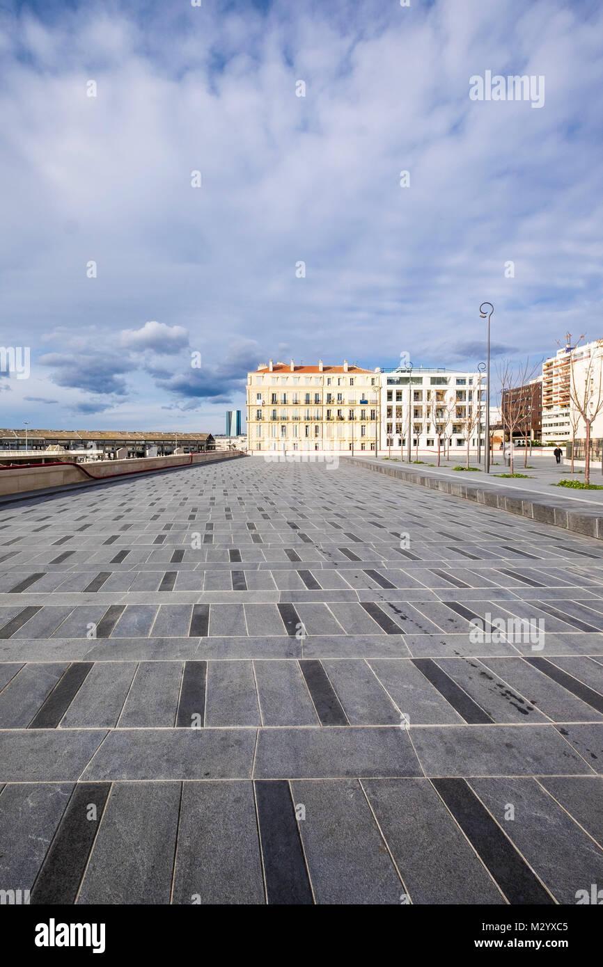 Paysage urbain sans des gens dans la ville, Marseille, France Photo Stock