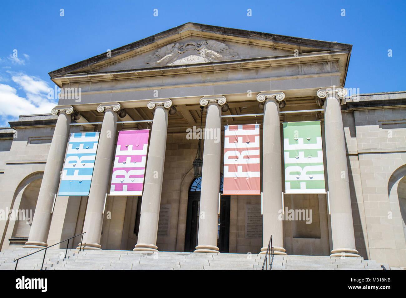 Baltimore Maryland Wyman Park Baltimore Museum of Art architecture néoclassique entrée entrée libre Photo Stock
