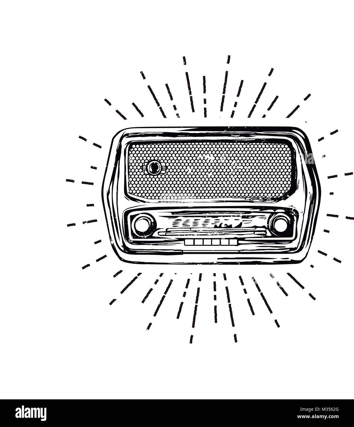 Old vintage radio Photo Stock