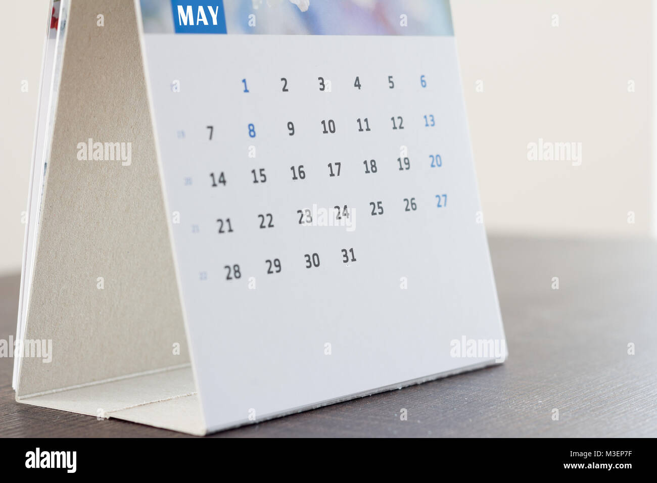 Calendrier de bureau vide Photo Stock