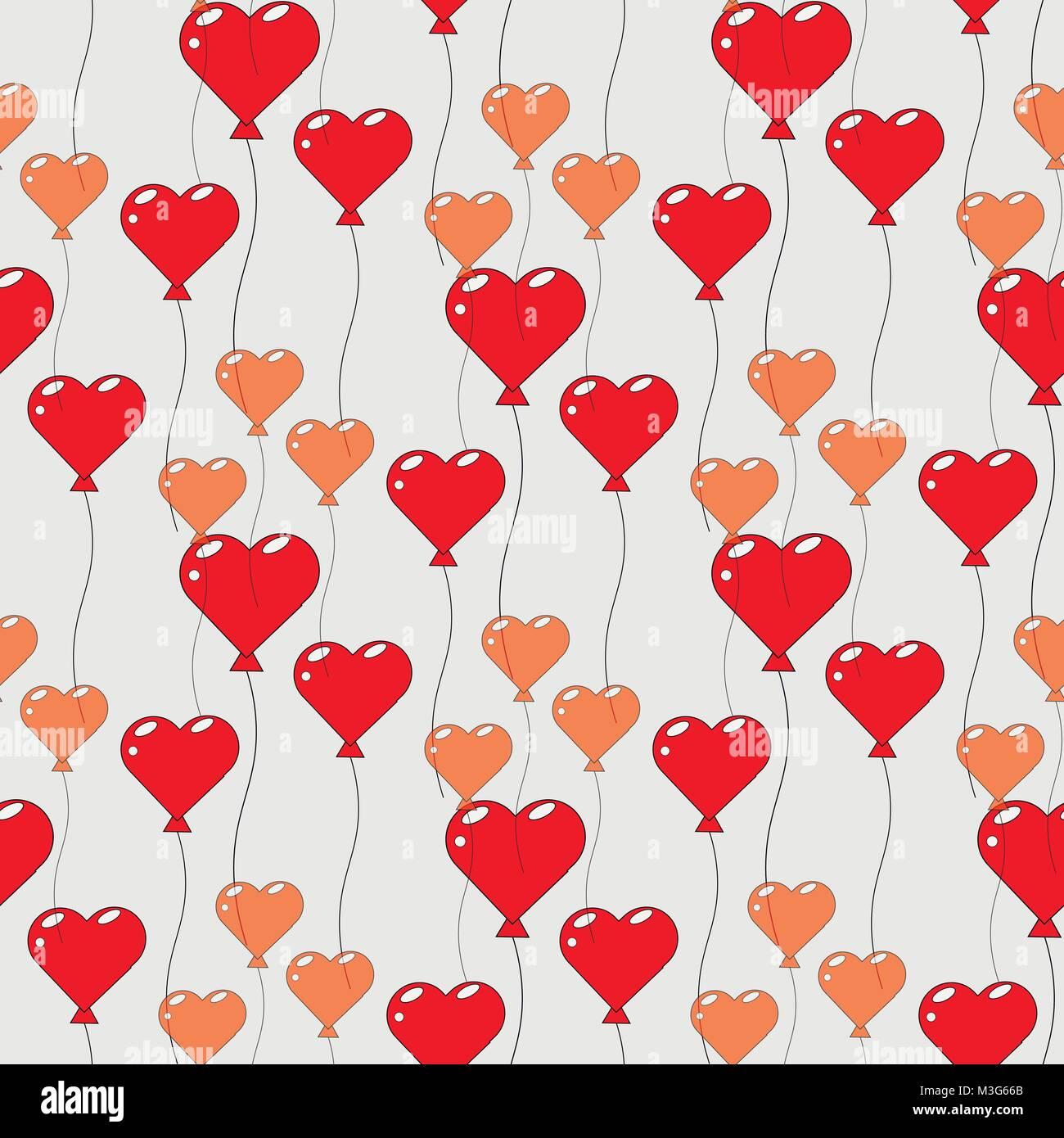 Image Avec Des Coeur modèle transparent avec des ballons en forme de cœur. conception