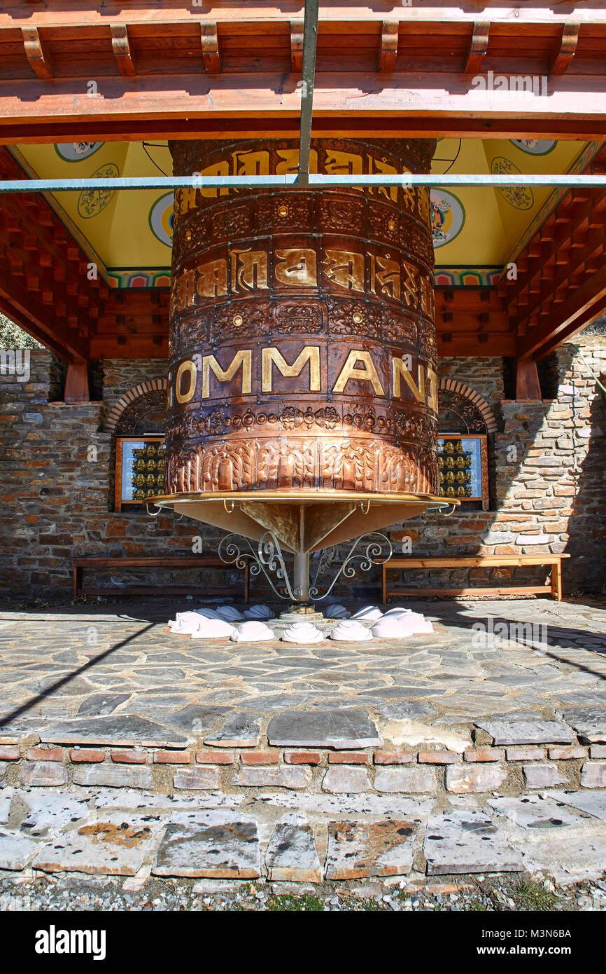 O Sel Ling, centre de retraite bouddhiste, Retiros, Las Alpujarras en Andalousie, Espagne Photo Stock