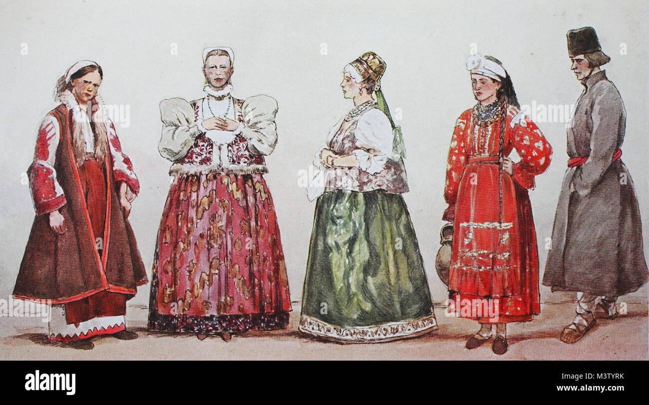 La mode, les vêtements, les costumes traditionnels en Russie
