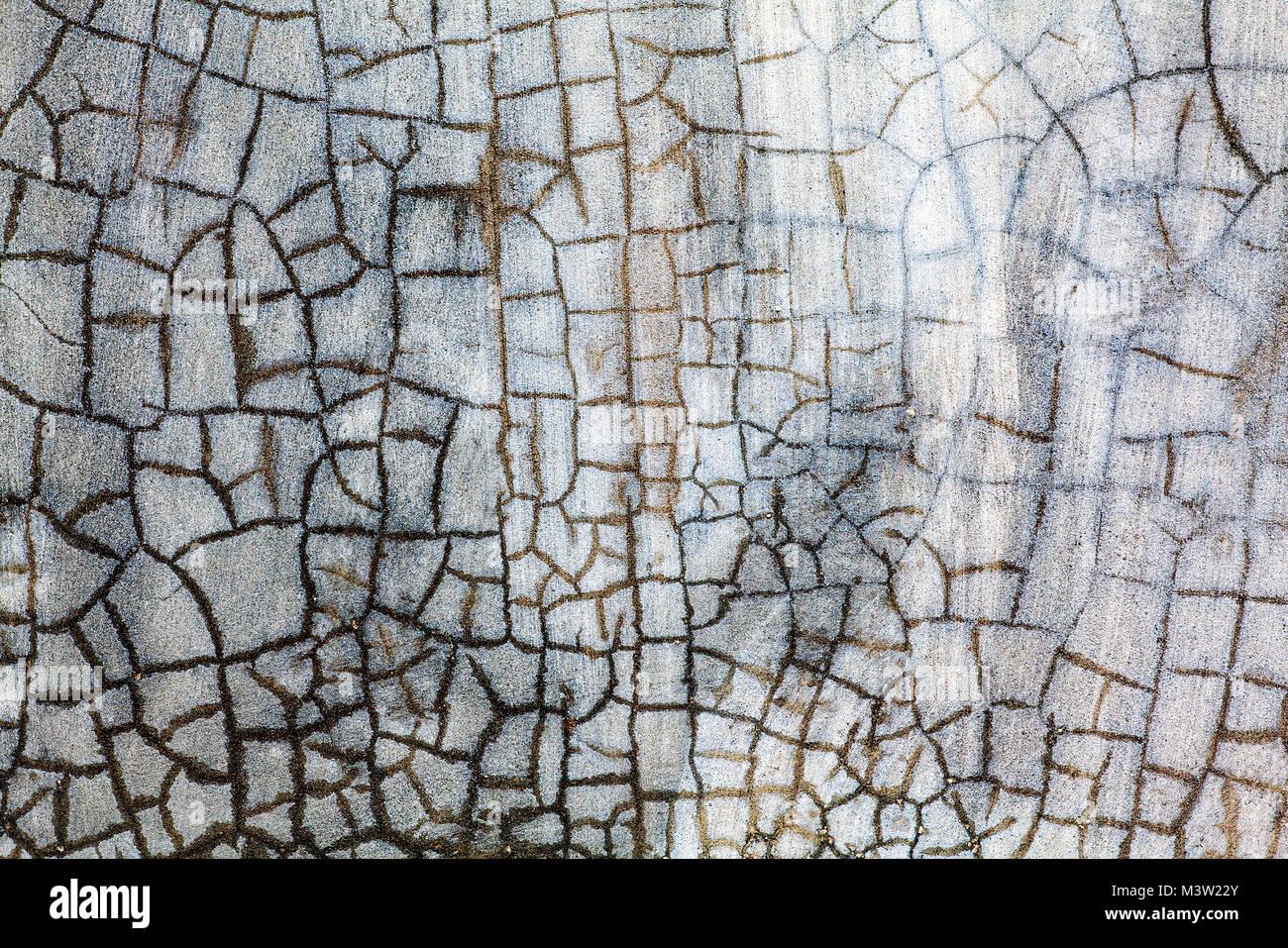 Blanc Craquelé La Peinture Sur Un Mur De Béton A Un Effet De