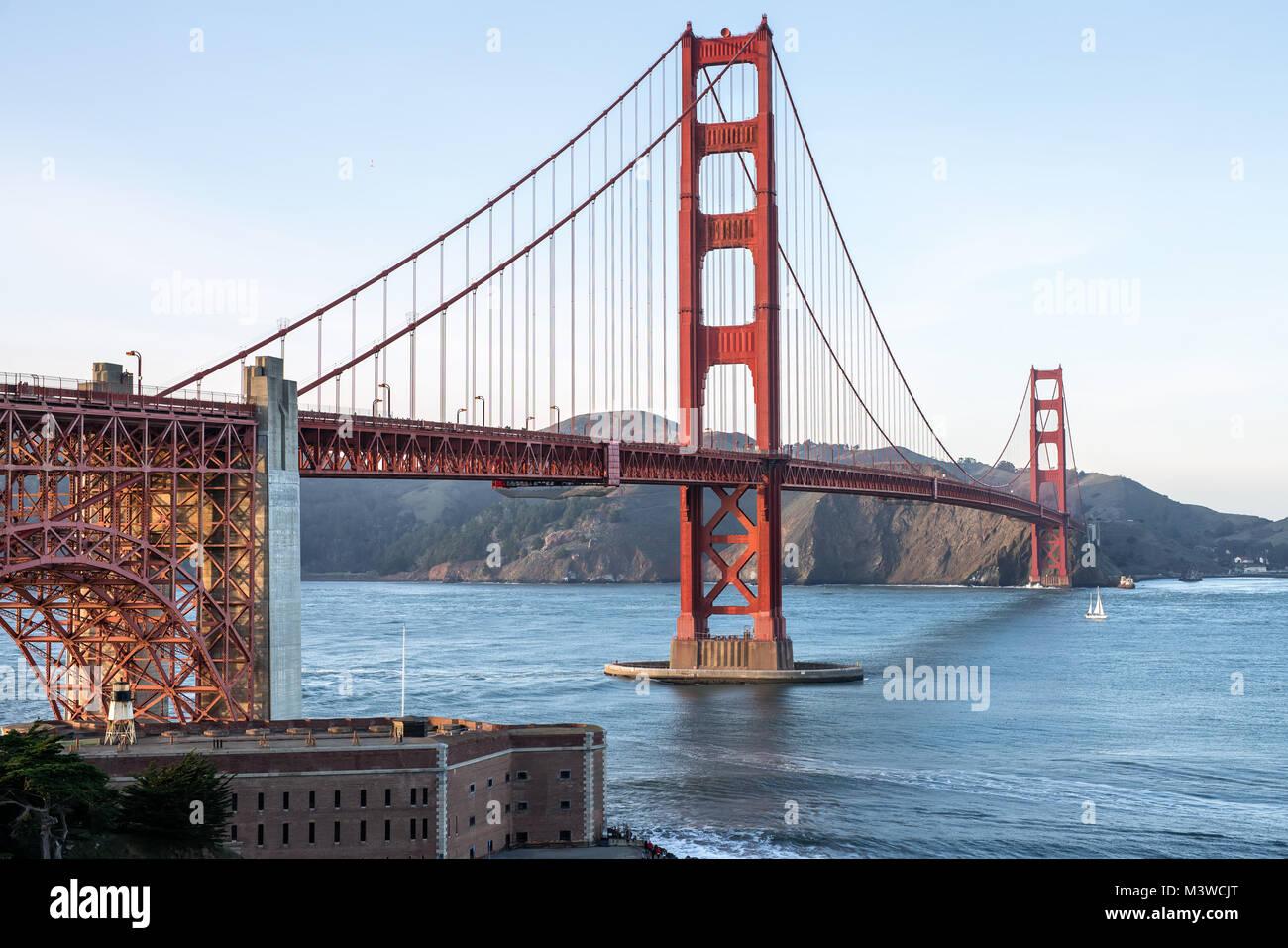 Belles rues de la région de Golden Gate Bridge Photo Stock