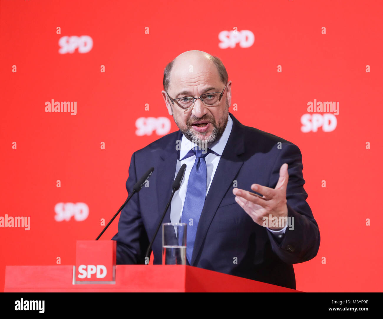 Berlin. Feb 13, 2018. Photo prise le 15 décembre 2017 montre leader social-démocrate allemand Martin Schulz Photo Stock
