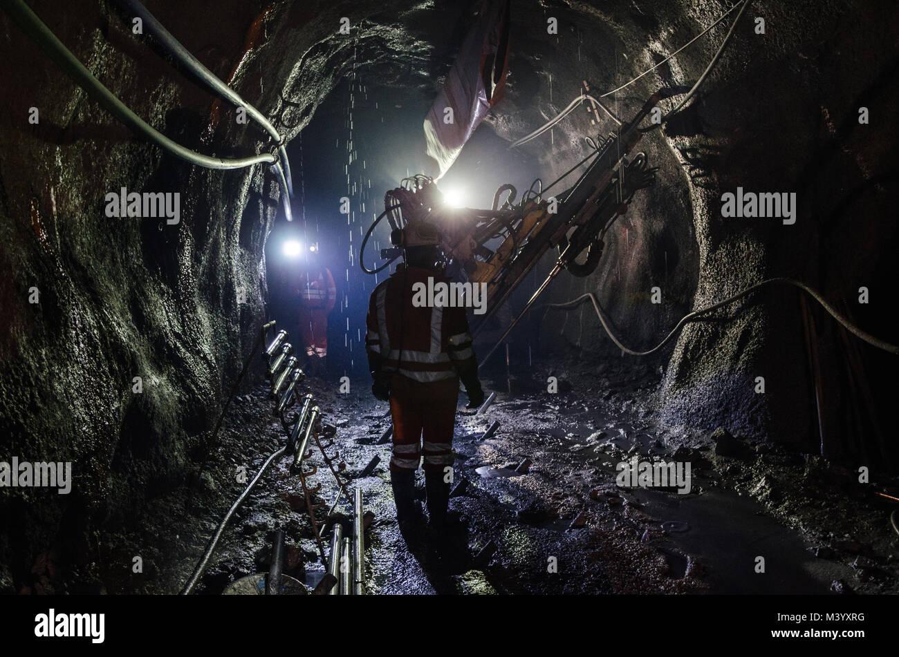 Mécanicien de machines d'exploitation minière Photo Stock
