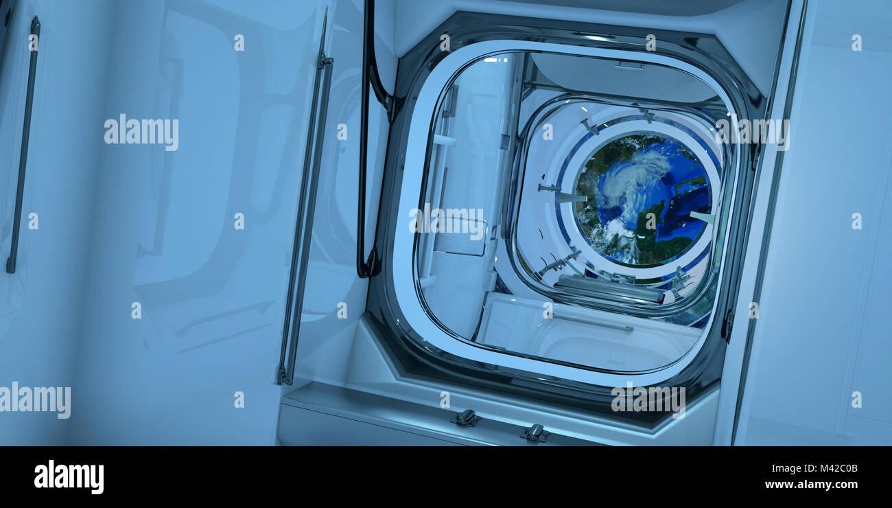 Fort détaillée et réaliste de l'image 3D à haute résolution de l'intérieur Photo Stock