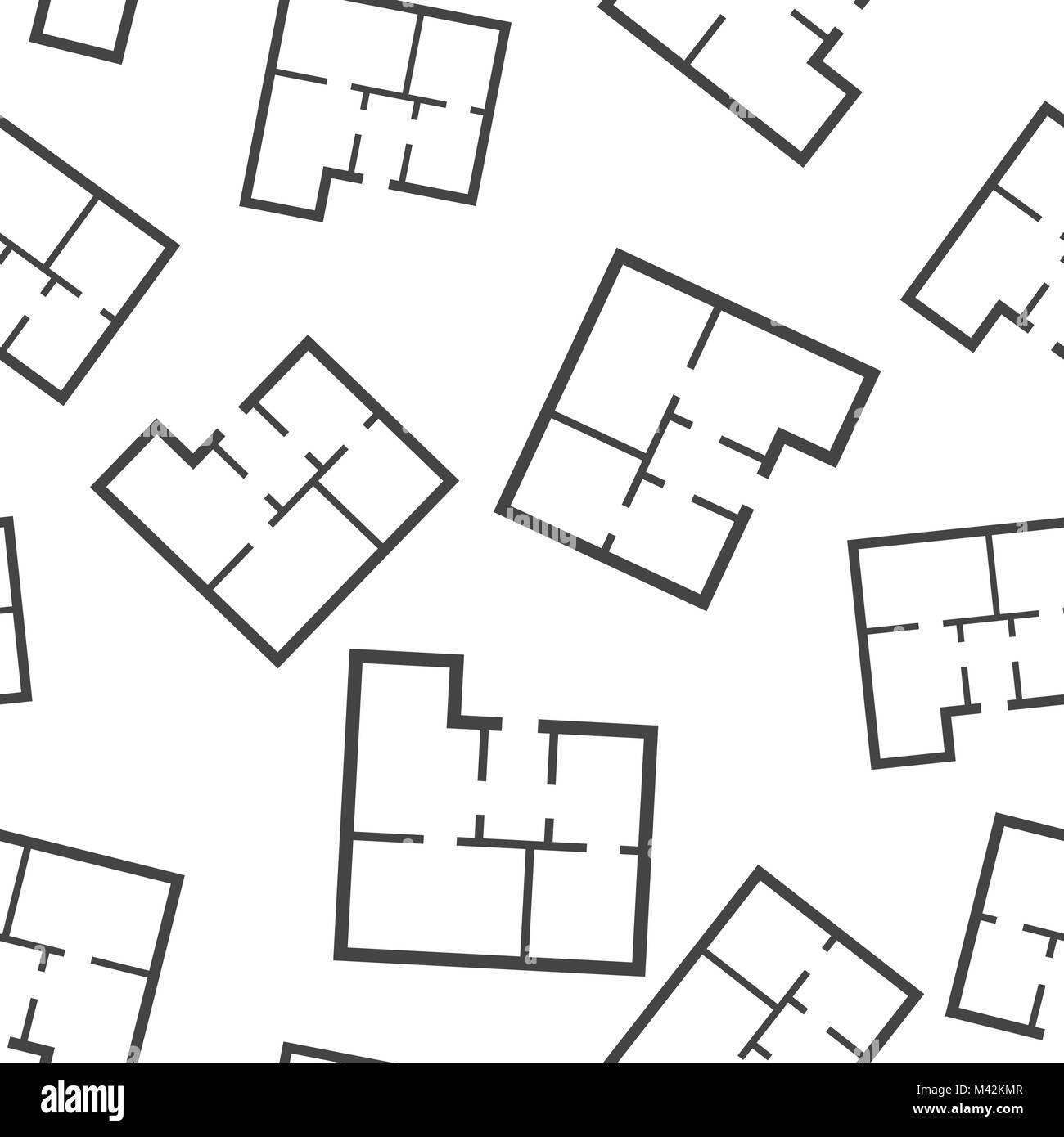 Plan De Maison De Fond Transparent Business Flat Vector Illustration Le Symbole Plan De Maison Modele Image Vectorielle Stock Alamy