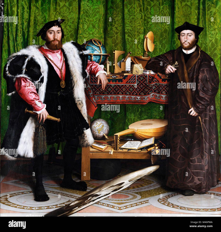 Les Ambassadeurs de Hans Holbein le Jeune Photo Stock