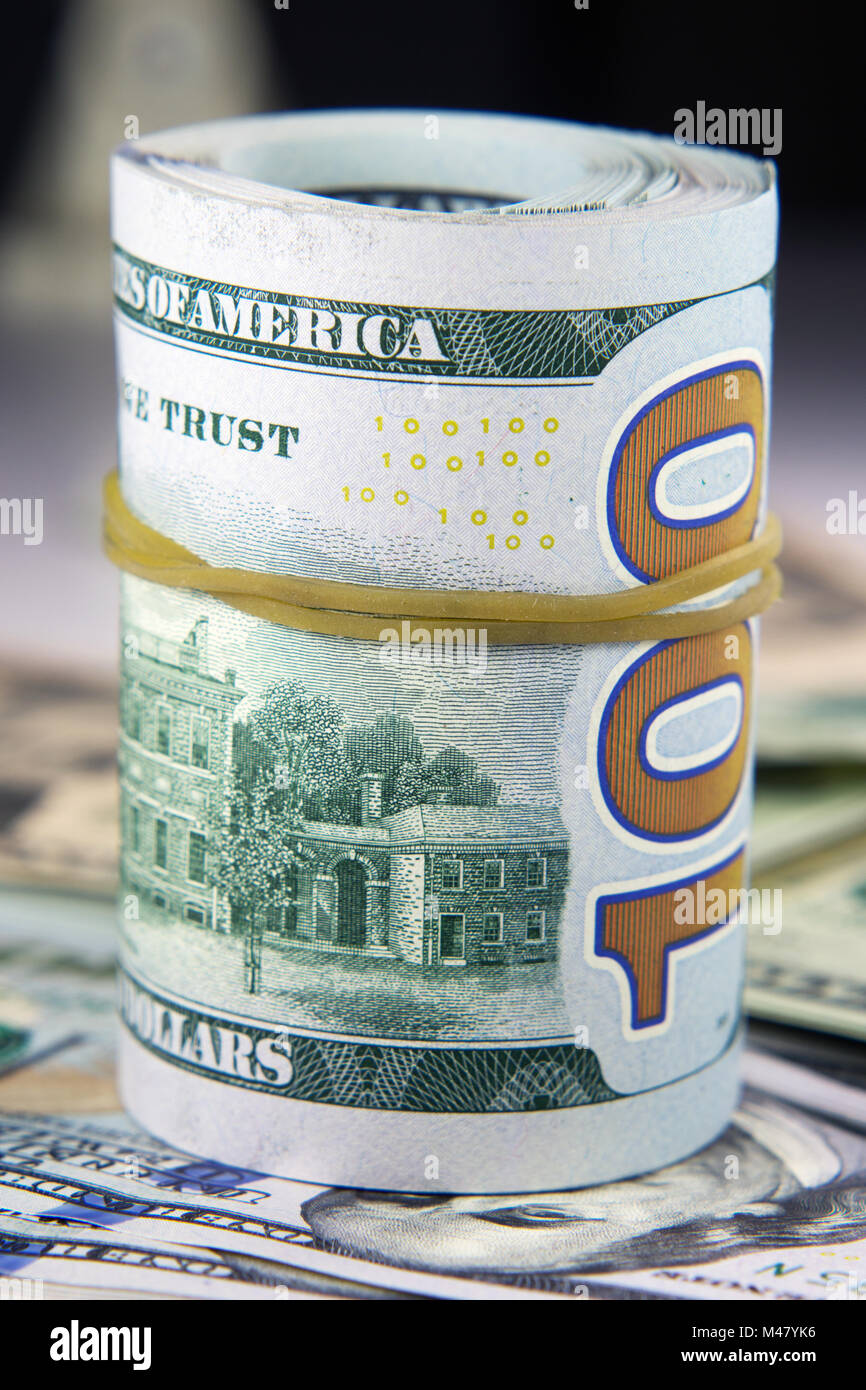 L'American Banknote closeup Photo Stock