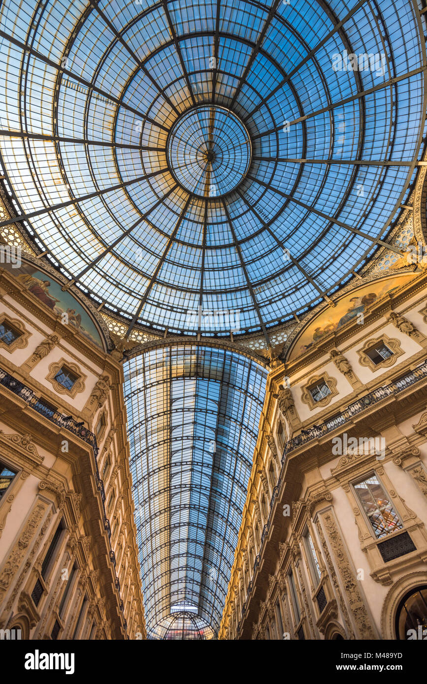 Galerie Vittorio Emanuele II shopping arcade, Milan, Italie Banque D'Images