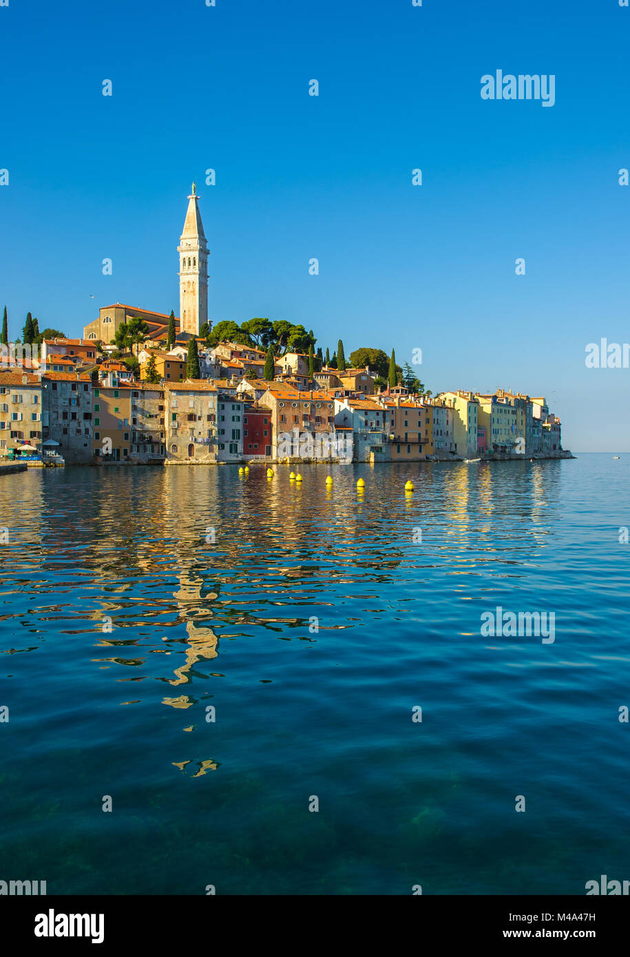 Vieille ville de Rovinj, Istrie, Croatie Photo Stock