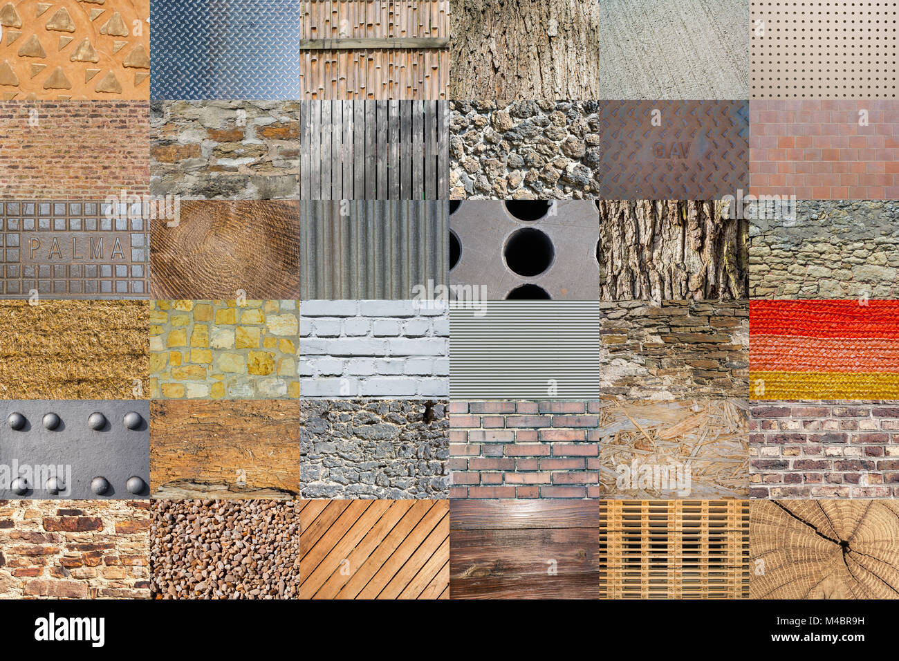 Sampler - textures et fonds Photo Stock