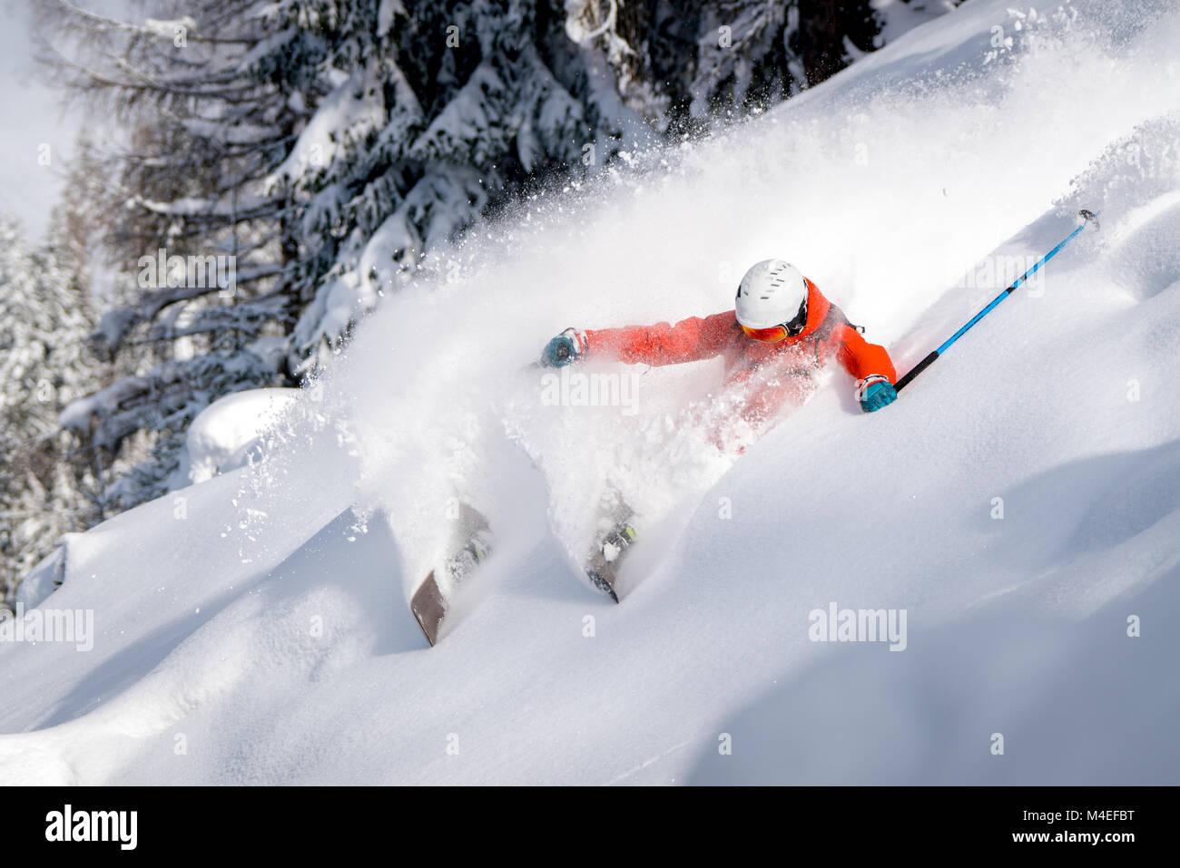 Freeride ski skieur masculin,Salzbourg Autriche,,Zauchensee Banque D'Images
