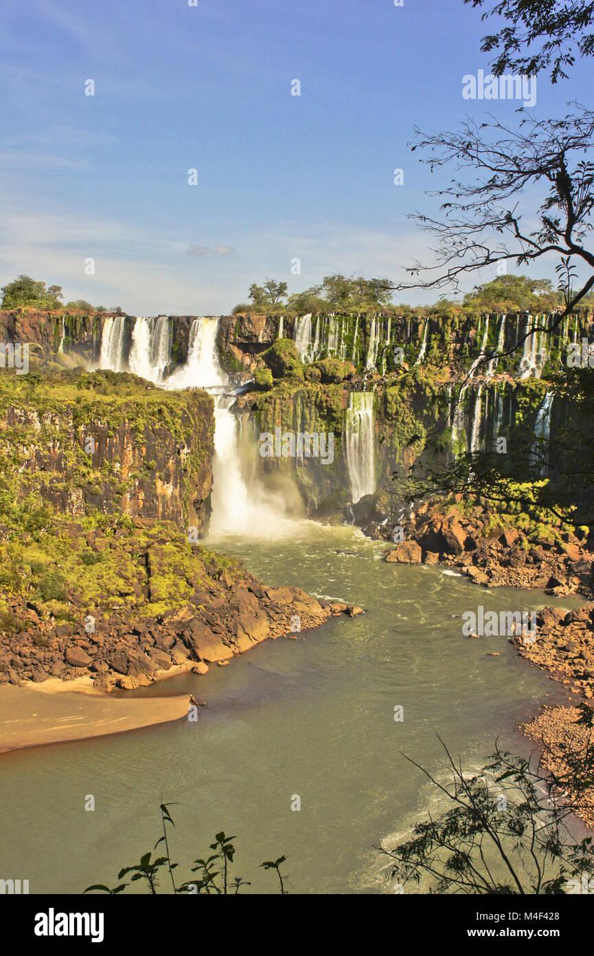 Chutes d'Iguaçu au Brésil, en Amérique du Sud Photo Stock