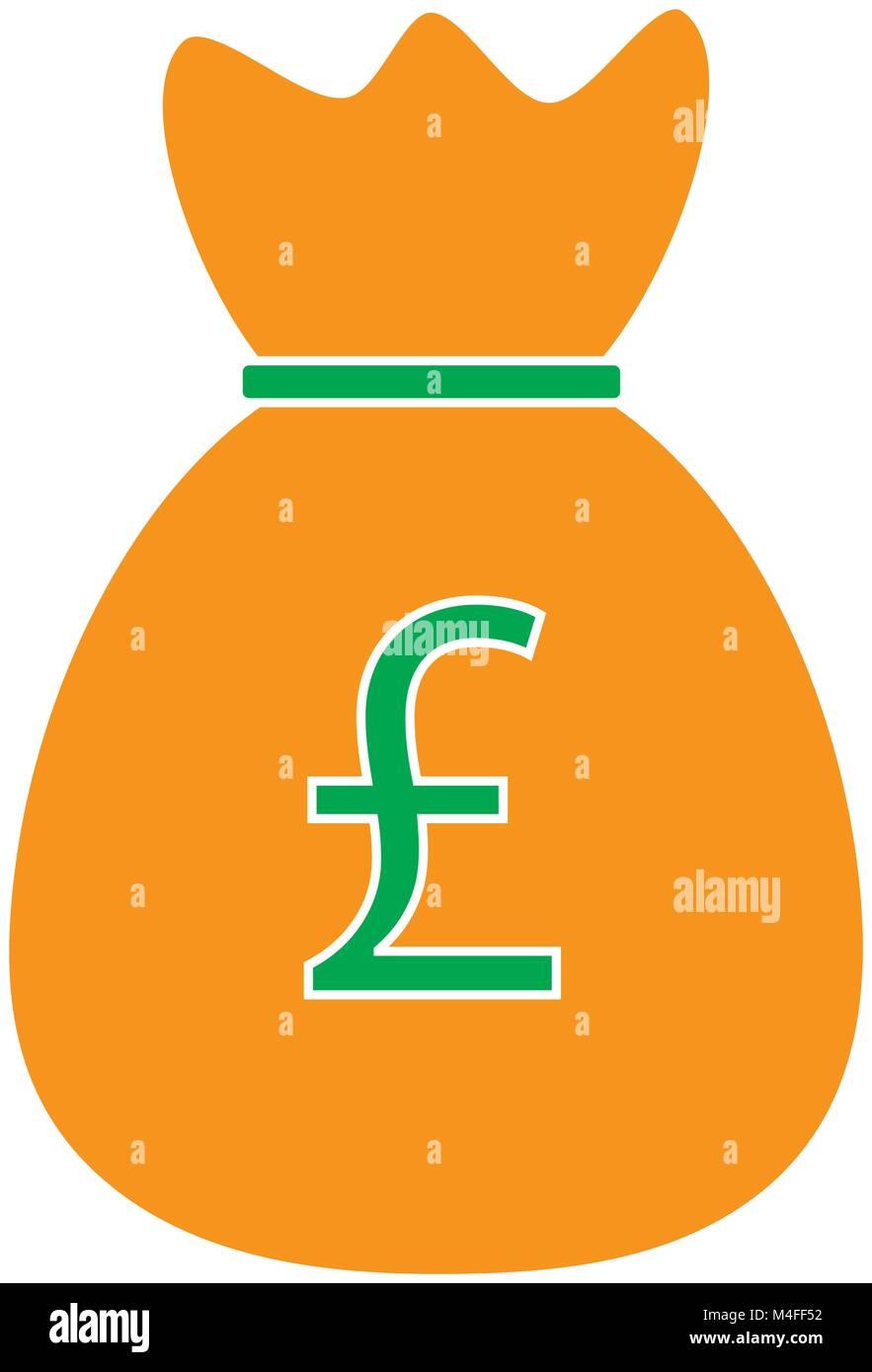 Pound Ou Monnaie Livre Sterling Ou Icone Vecteur Logo Sur Un