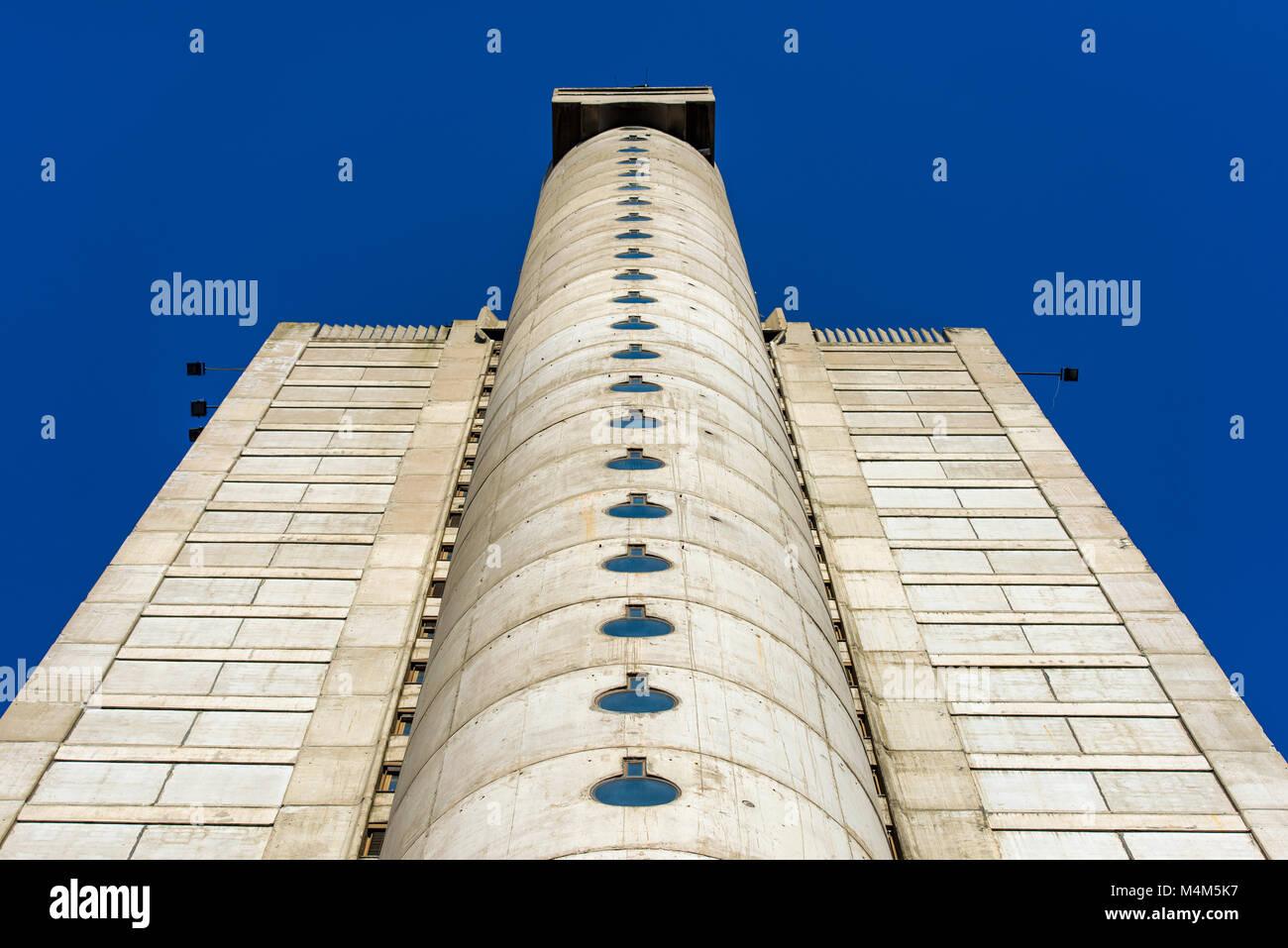 La porte ouest de Belgrade, capitale de la Serbie, l'exemple de l'architecture communiste brutalisme dans Banque D'Images
