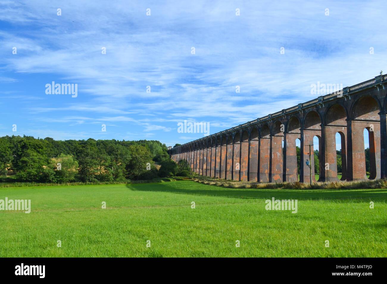 Pont de chemin de fer, Sussex, UK Photo Stock