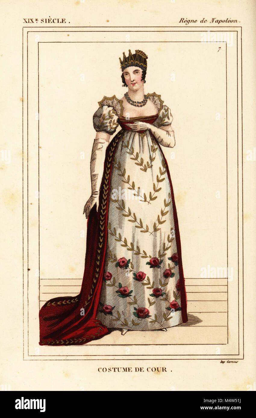 Lithographie coloriée par Léopold Massard de  Le Bibliophile Jacob aka  Paul Lacroix Costumes historiques de la France (Costumes historiques de la  France),