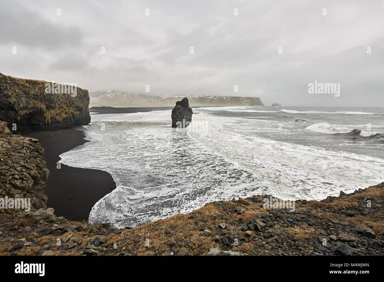 Paysage islandais de mer Photo Stock