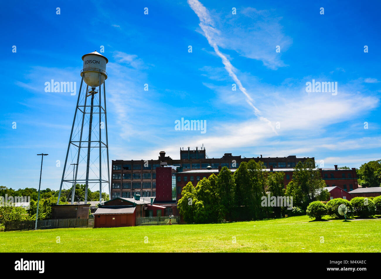 Thomas Edison National Historical Park préserve et de laboratoire de Thomas Edison, résidence de Glenmont, Llewellyn Park à West Orange, New Jersey. Banque D'Images