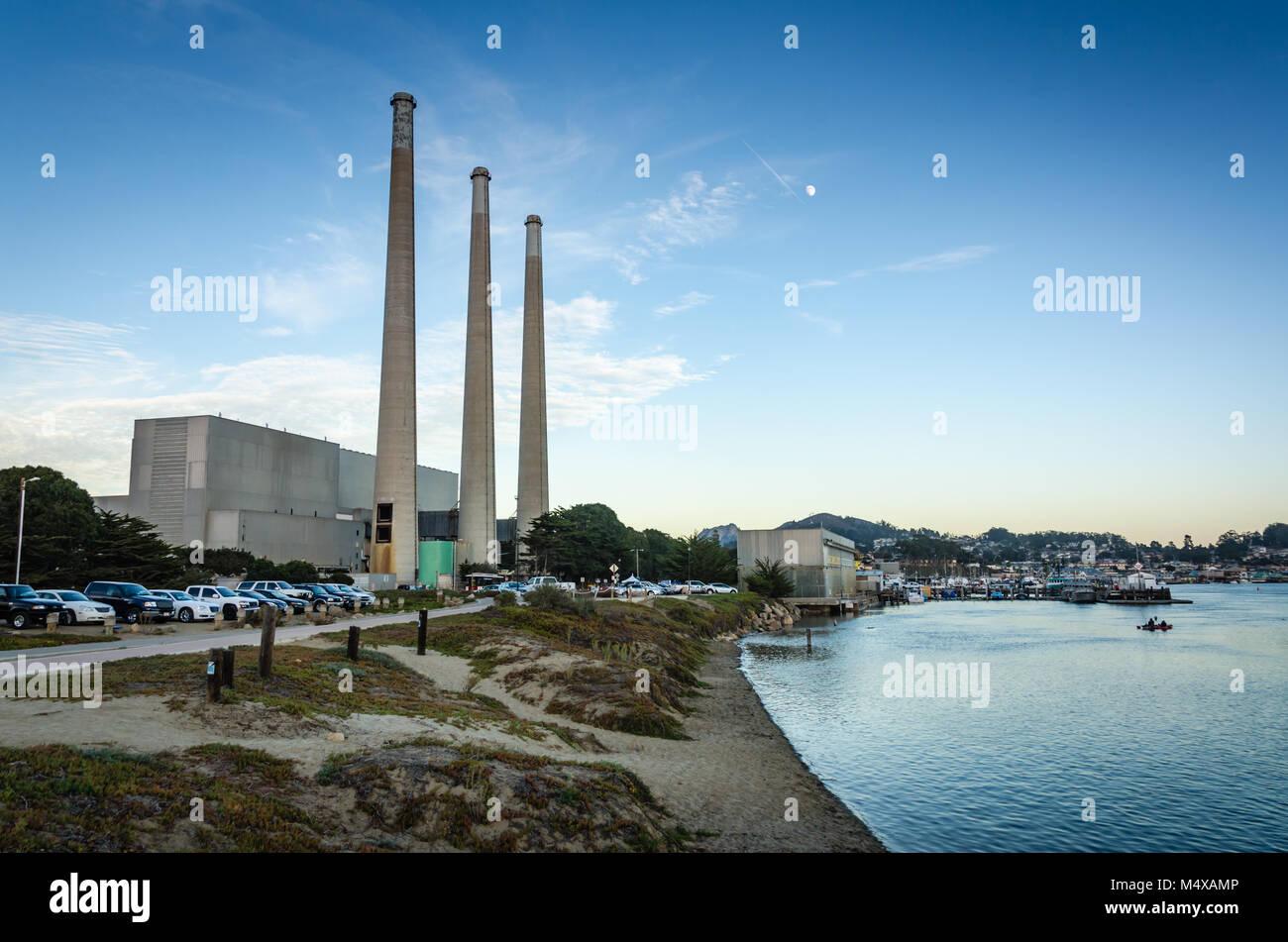 Alias 'trois doigts,' la centrale électrique Dynergy fourni de l'électricité à la Photo Stock