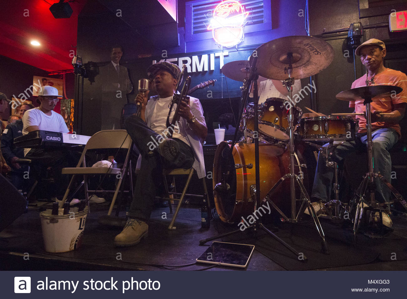 Etats-unis, Louisiane, Nouvelle Orléans, le Marigny, Kermit's Treme Mère Lounge Photo Stock