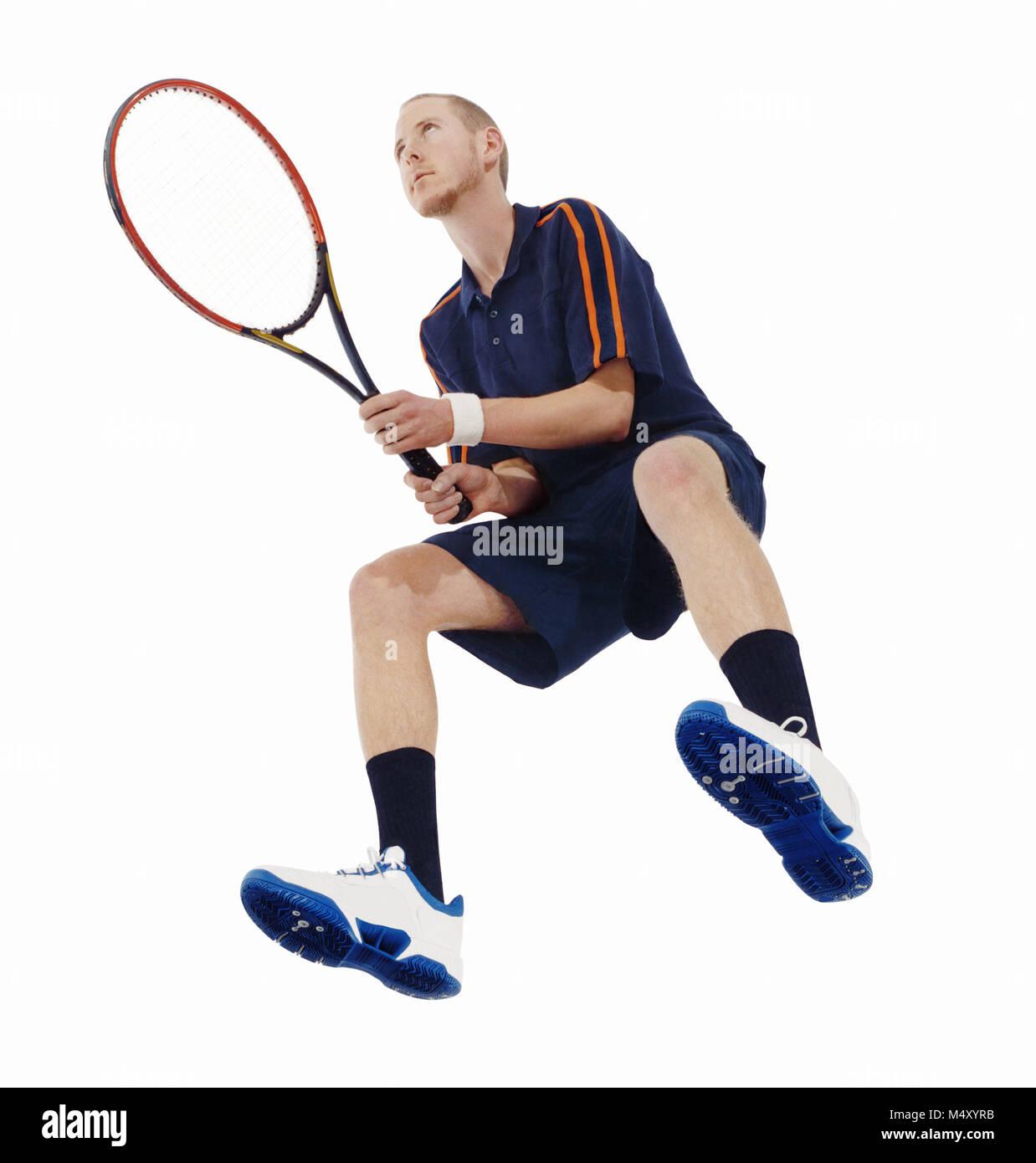 Un joueur de tennis masculin Banque D'Images