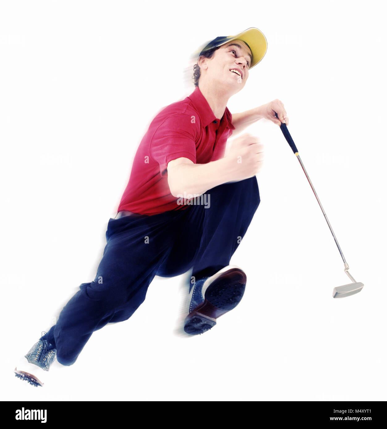 Un male golfer Banque D'Images