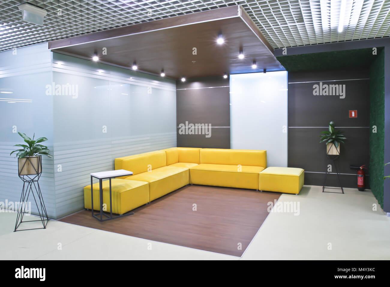 La réception de l intérieur dans les bureaux modernes du centre d