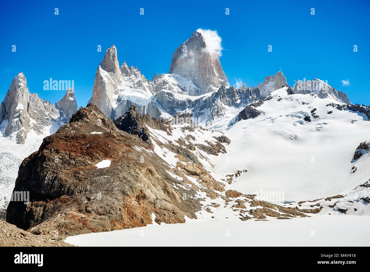 Fitz Roy, le Parc National Los Glaciares, en Argentine. Photo Stock