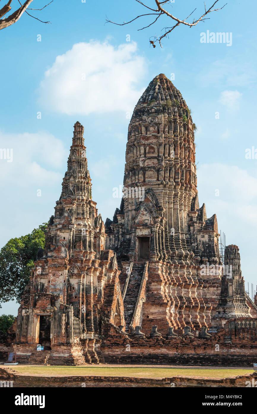 Wat Chaiwatthanaram temple bouddhiste dans la ville d'Ayutthaya Historical Park, en Thaïlande, et site du patrimoine Banque D'Images