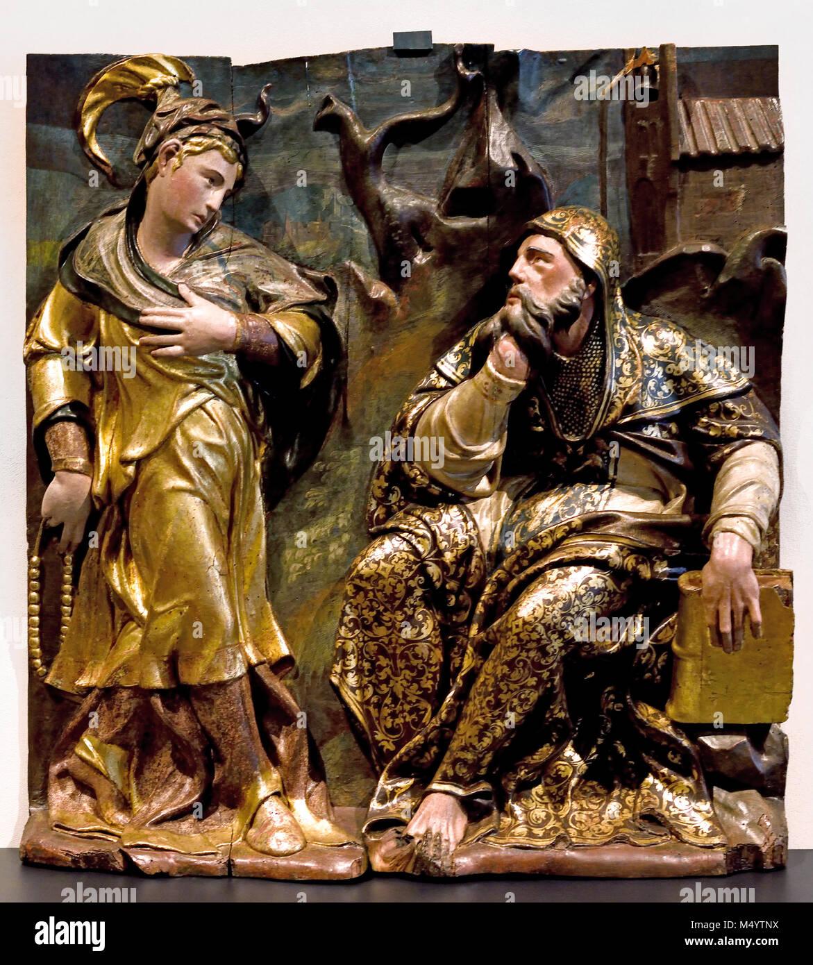 Les tentations de Saint Antoine l'Abbé 1553 -1559 par Diego Rodriguez , l'Espagne, l'espagnol, Photo Stock