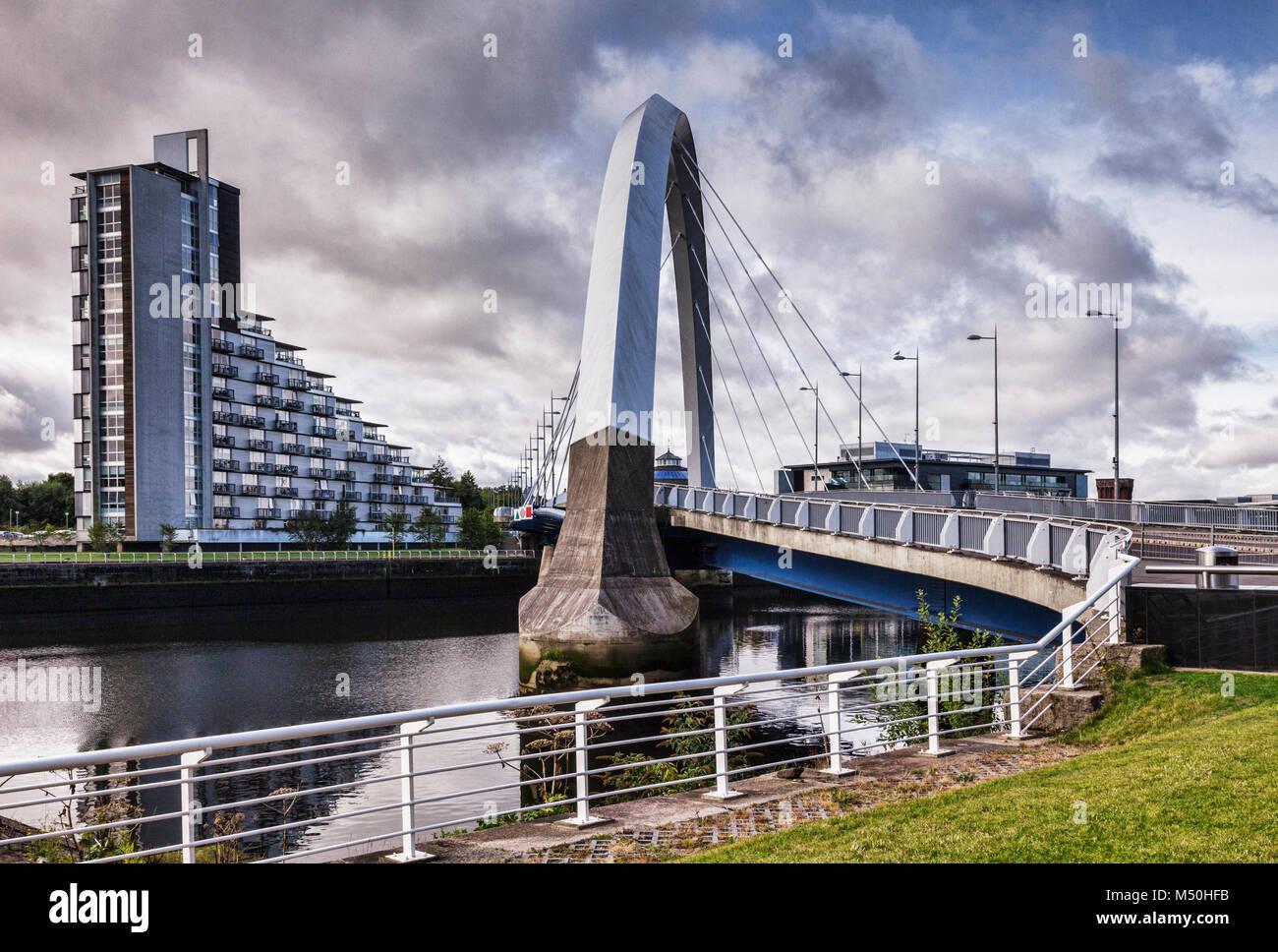 Clyde Arc, Glasgow, Écosse, Royaume-Uni Banque D'Images