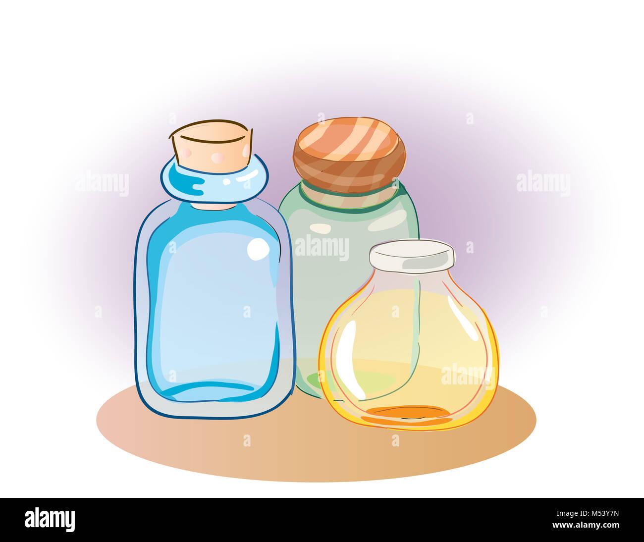 Pot Colore Bouteilles Clipart Vector Illustration Photo Stock Alamy