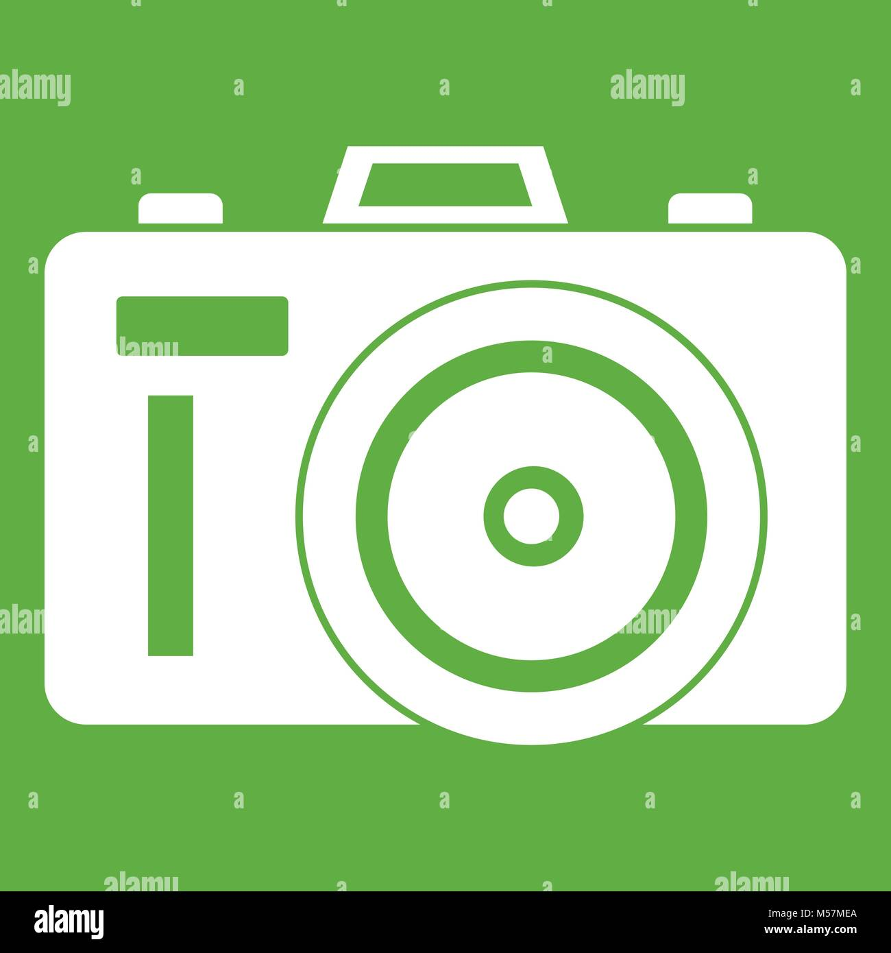 Icône Photocamera green Photo Stock