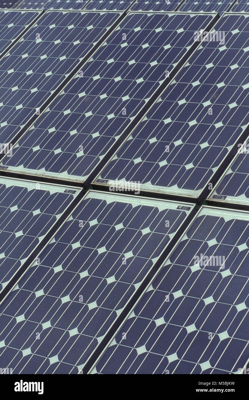 Close up de cellules solaires, Peshwe park Pune, Maharashtra, Inde Photo Stock