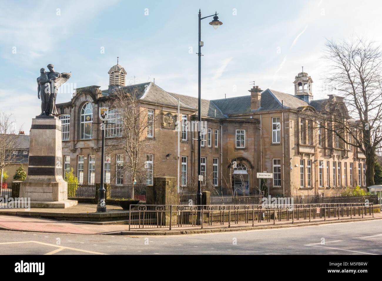 Bearsden école primaire, Bearsden Cross, Ecosse, Royaume-Uni Photo Stock