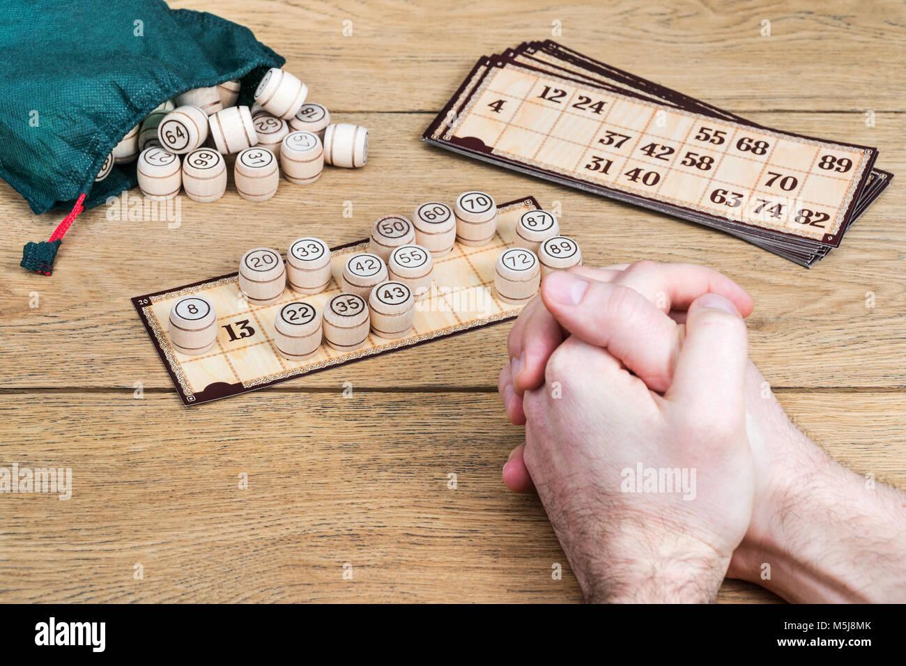 Numéro treize dans un jeu de bingo Photo Stock