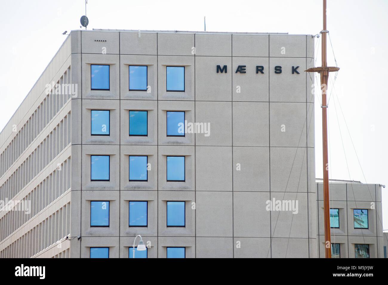 Siège d'A.P. Moller Maersk-Group, conglomérat d'affaires danois en transport, logistique et secteur de l'énergie, l'un des plus grands porte-conteneurs ope Banque D'Images