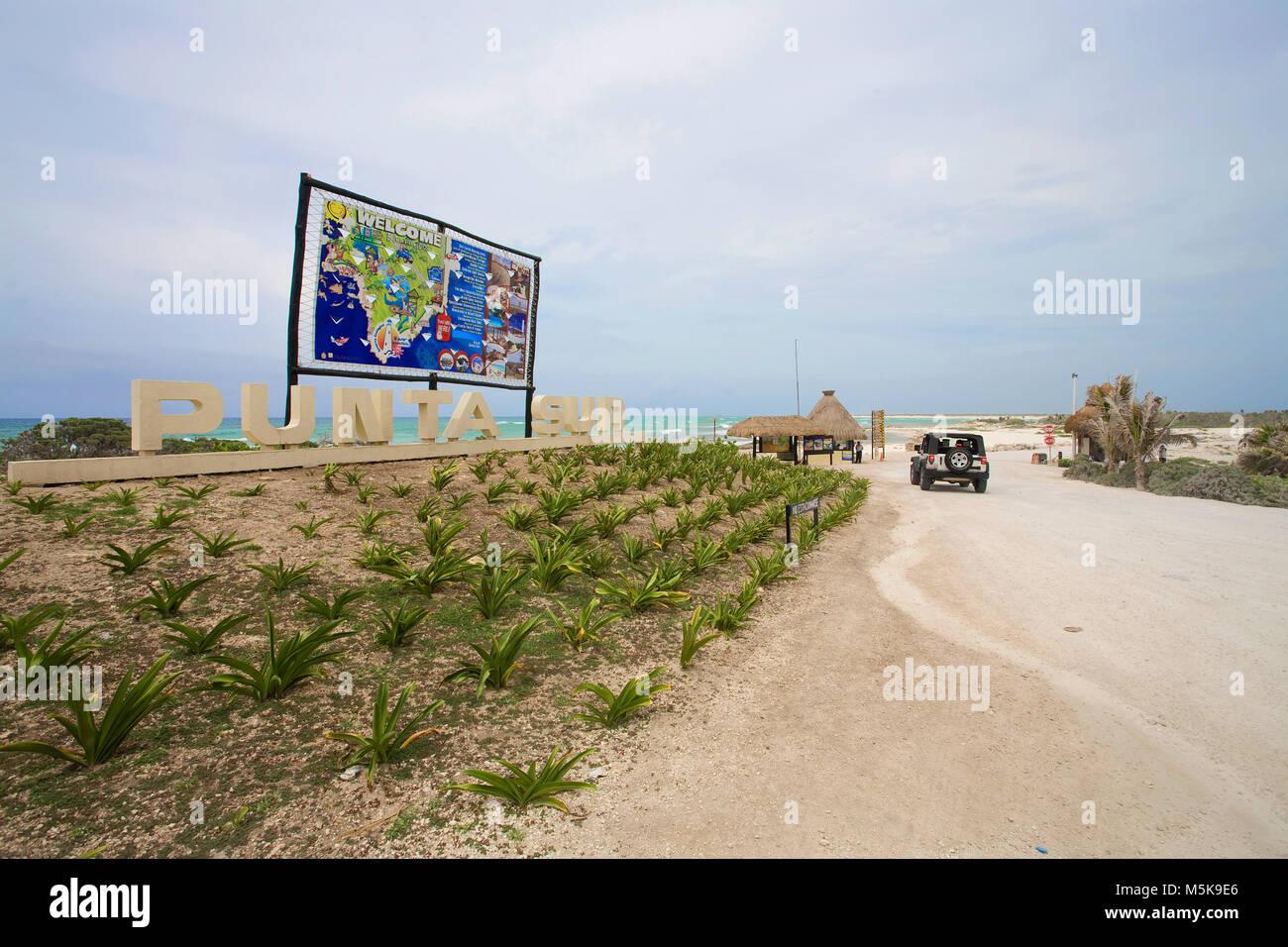 Parc Naturschutzgebiet Punta Sur, auf der von Suedseite Cozumel, Mexique, Caraïbes | Eco Beach Park Punta Sur, southside Banque D'Images